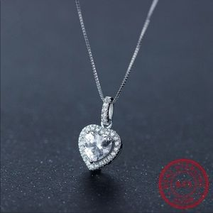 Faux Diamond Heart Necklace!